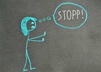 Angst - Stopp - Gestik