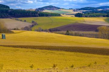 Beautiful summer secluded countryside, Czech republic
