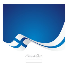 Abstract Finland flag ribbon vector