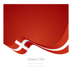 Abstract Denmark flag ribbon vector