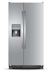 Refrigerator, white, background