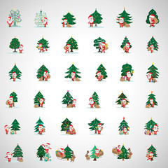 Santa Claus And Christmas Tree Set