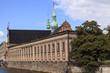 canvas print picture - Holmens Kirche in Kopenhagen mit Anbau.