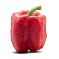 Red Bell Pepper with Water Drop