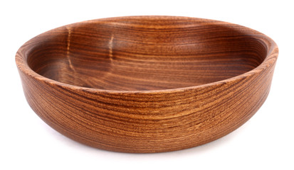 Handmade wooden bowl with wood rings