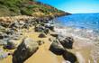 Leinwanddruck Bild - rocky beach