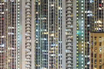 Compact building in Hong Kong