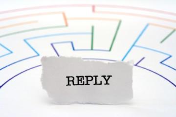 Reply maze concept