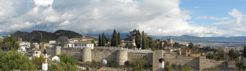 panorama murallas granada