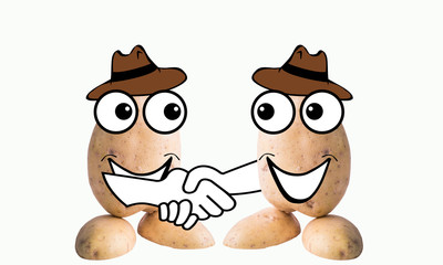 little potato man handshake