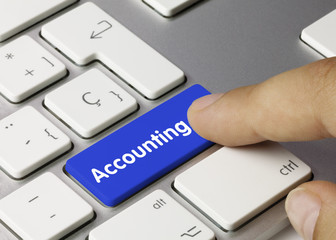 Accounting. Keyboard