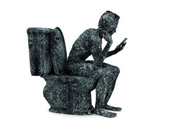 El pensador smartphone wc