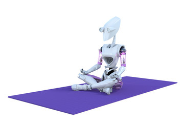 Robot Practicing Yoga