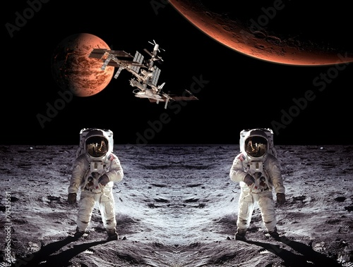 Astronauts Spaceman Moon Planets - 70435531