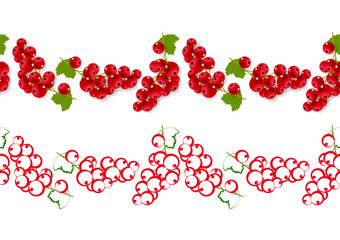 Seamless ornaments with red currants