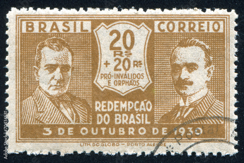 Poster Getulio Vargas and Joao Pessoa