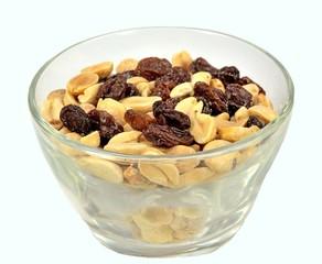 Peanuts and raisins