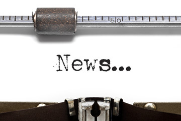 News Text on VIintage Typewriter