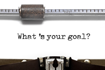 What is Your Goal Typewriter
