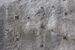 canvas print picture - Shotcrete wall, wall of sprayed concrete