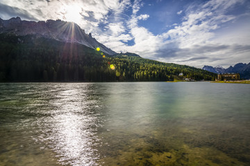 Lake against the light