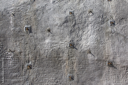 Shotcrete wall, wall of sprayed concrete - 70440742