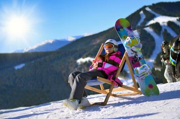 сноуборд, зима