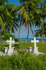 graveyard in caye caulker belize