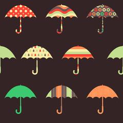 Pretty Umbrellas Seamless Pattern
