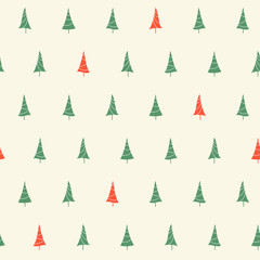 Seamless pattern with Christmas tree for winter holidays design