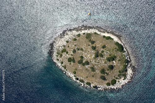 Leinwanddruck Bild Kornati archipelago, Adriatic sea in Croatia