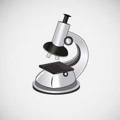 Isolated vector microscope on a light background