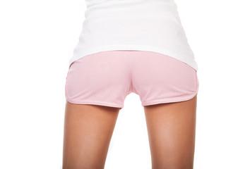 Beauty buttocks in short shorts