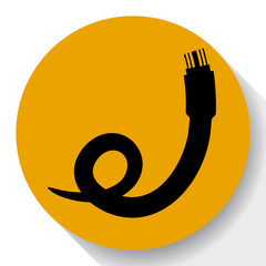 Vector optic cable icon.