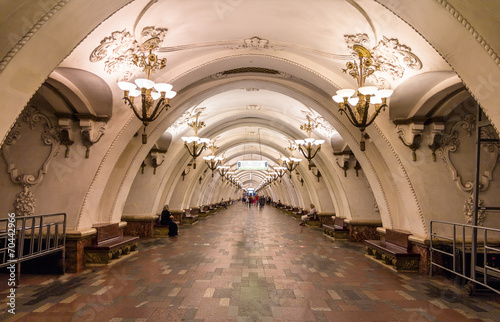 Arbatskaya station of Moscow subway - Russia