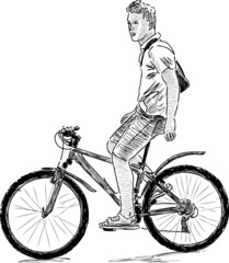 young man on the bike