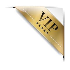 goldene banderole Vip auf weiß