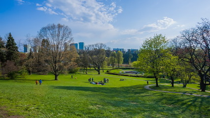 People relaxing in High Park Toronto