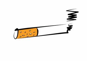 hand drawn cigarette burns icon
