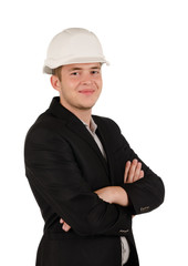 Confident man wearing a hardhat