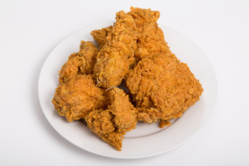 Five Pieces of Fried Chicken on White Counter