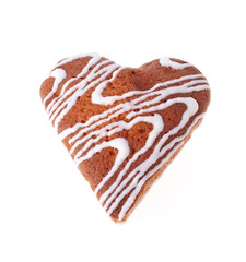 The Front Side of the Cake in Heart Shape