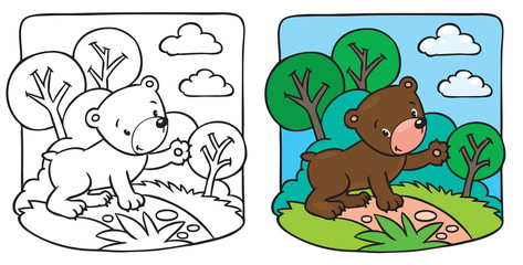 Little teddy bear coloring book