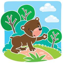 Children vector illustration of little teddy bear