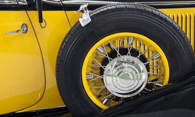 Side Detail of a Vintage Car