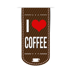 I love coffee banner design