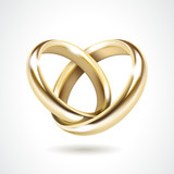Vector Gold Wedding Rings Isolated - 70446720