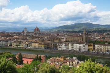 Вид на Флоренцию, Италия.