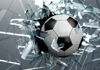 Broken glass 3D Soccer Ball