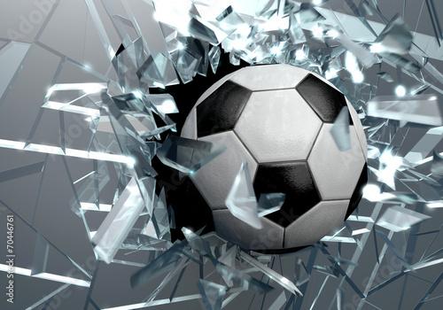 Broken glass 3D Soccer Ball - 70446761